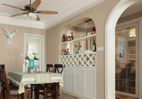 美式拱形酒柜美图