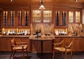 美式木质酒柜欣赏