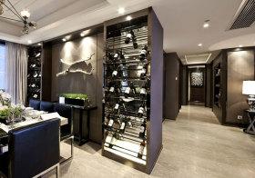 现代玻璃酒柜设计