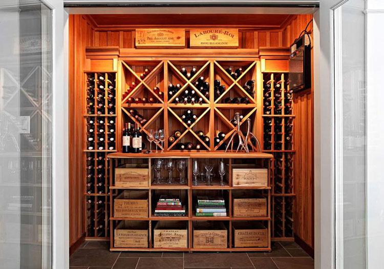 美式原木酒柜效果图