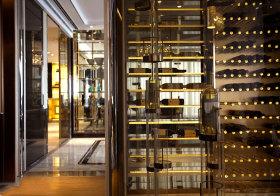 欧式玻璃酒柜细节