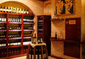 美式拱形酒柜实景