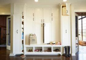 美式木质鞋柜美图鉴赏