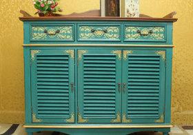 地中海蓝色鞋柜设计