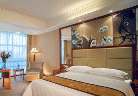 中式花鸟床头软包设计