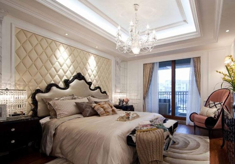 欧式清新床头软包美图