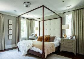 中式大块白色床头软包欣赏