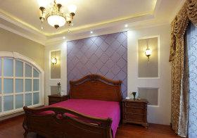 欧式紫色床头软包实拍