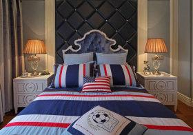 欧式黑色皇冠床头软包设计