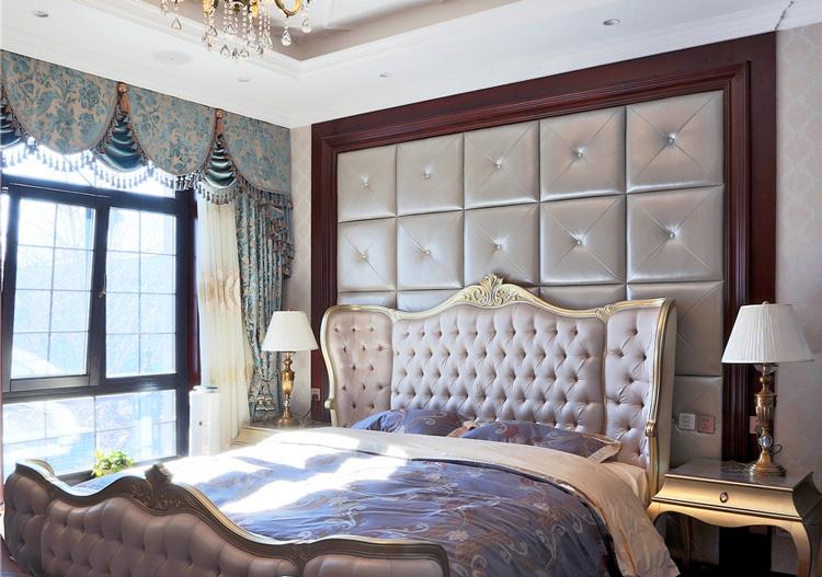 欧式美丽床头软包美图
