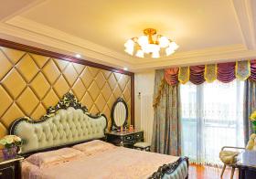 欧式奢华床头软包细节