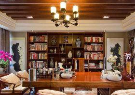 中式工艺品书柜设计
