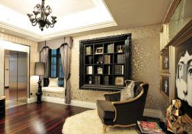 欧式黑色书柜设计