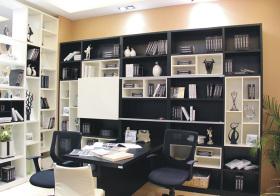 现代不规则书柜造型