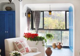 地中海阳台窗户效果图