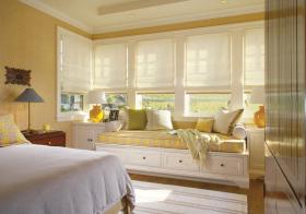 美式黄色窗户欣赏