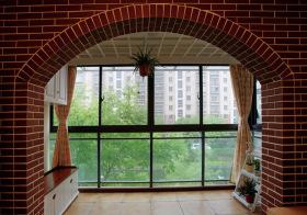 混搭红砖窗户设计