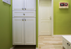 美式绿色鞋柜美图欣赏