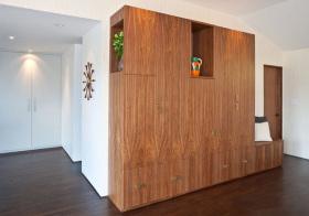 混搭木质鞋柜设计