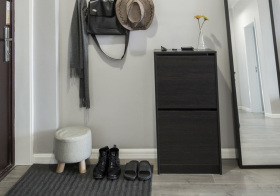 现代小鞋柜细节