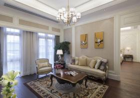 欧式素色客厅俯拍