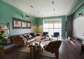 混搭绿色客厅美图