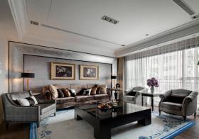 欧式绒布客厅设计
