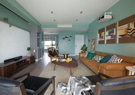 混搭绿色客厅设计