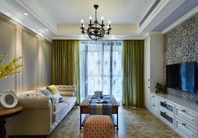 简美彩色客厅设计