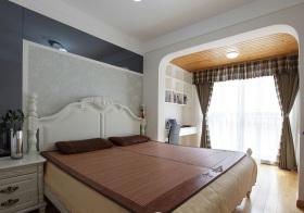 美式夏日卧室实景