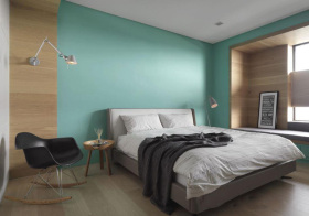 宜家果绿色卧室欣赏