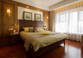 美式木质卧室欣赏设计
