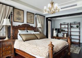 美式复古卧室细节