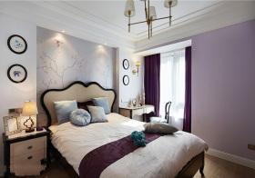 欧式紫色卧室美图