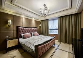 欧式软包卧室实景