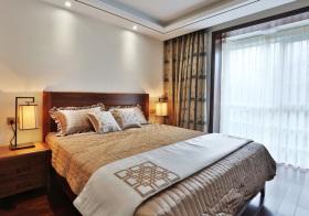 新中式简约卧室实景