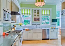 混搭彩色厨房欣赏