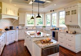美式弧形厨房美图欣赏