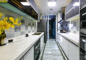 现代直道型厨房细节