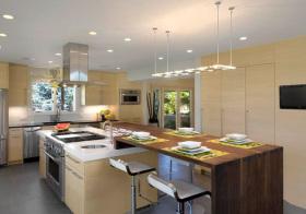 美式淡黄色厨房设计