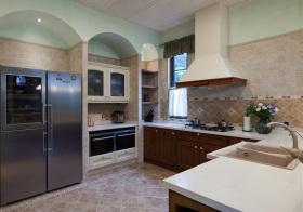 地中海拱形厨房实景