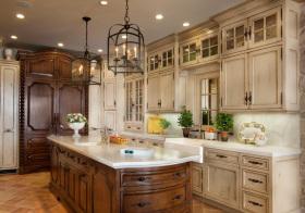 美式象牙木厨房美图