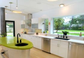 现代糖果绿厨房细节