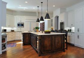 美式弧形厨房设计