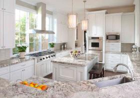 美式大理石厨房设计