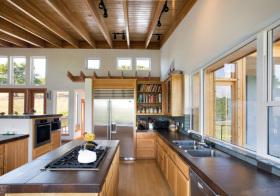 美式木质厨房设计