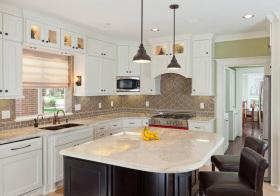 美式白色厨房细节