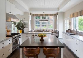 美式大空间厨房美图