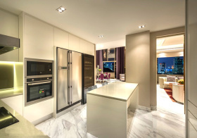 现代简单厨房效果图