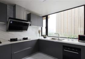 现代灰色厨房实景